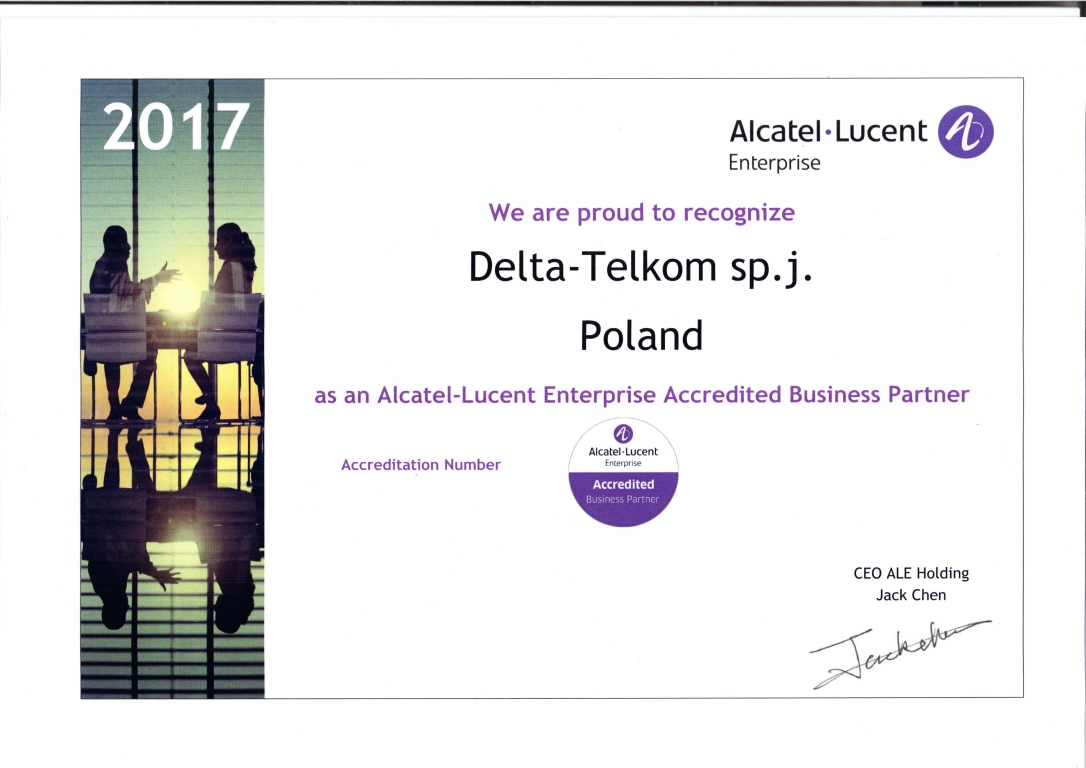 Alcatel - Lucent Enterprise Accredited Business Partner